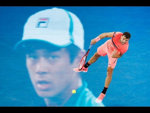 Grigor Dimitrov vs Mackenzie McDonald - Melbourne 2018 R2 Highlights HD