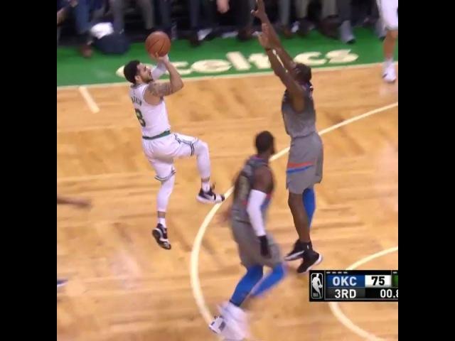 Boston Celtics в Instagram: «Larkin beats the buzzer!»