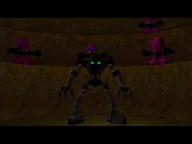 Bionicle The Legend of Mata Nui Onua performs Takara
