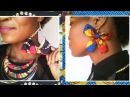 How to make 2 types of Bow earrings African print DIY