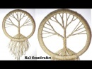 DIY Vintage tree Dream Catcher room decoration ideas Jute Craft easy craft
