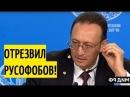 ТАКОГО британский посол НЕ ОЖИДАЛ Коллега Лаврова в жёстком стиле ПРИПЕЧАТАЛ русофобов