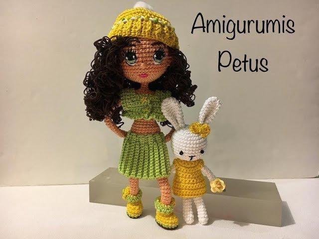 Como bordar ojos nariz y boca muñeca Carolina amigurumis Petus OCTAVA PARTE