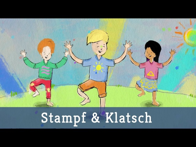 Stampf und Klatsch (Animiertes Tanzvideo) - Lichterkinder | Kinderlieder | Bewegungslieder