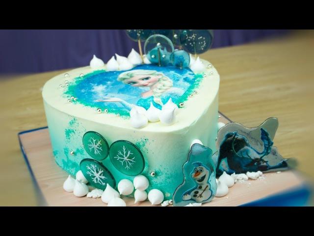 Торт ❄Холодное сердце❄ без мастики💙 - Я - ТОРТодел!