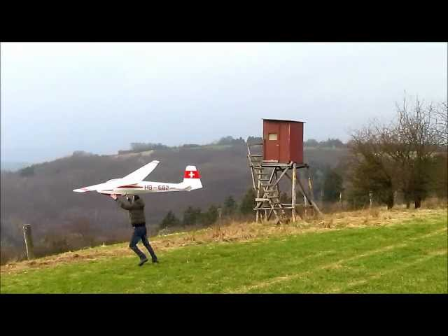 K8B-6000 Phoenix, maiden flight slope soaring