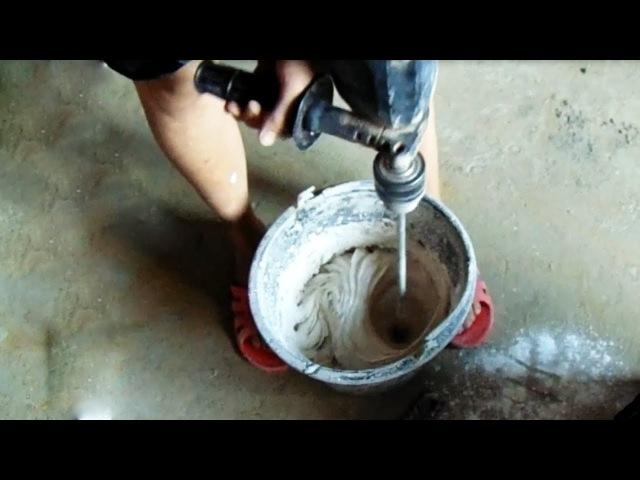 Как замешать раствор из гипсовой штукатурки (ПРОПОРЦИИ)