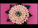 DIY Kanzashi Stoff Blumen Haarschmuck Ribbon flower barrette hair accessories