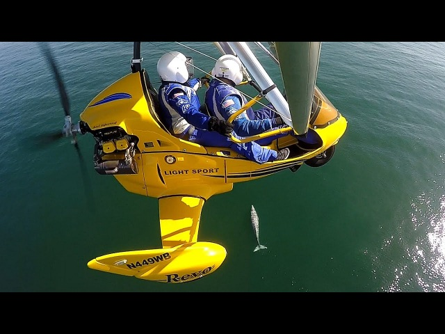 Pacific Blue Air REVO Trike Flight Experience w Epic Whale Flyover