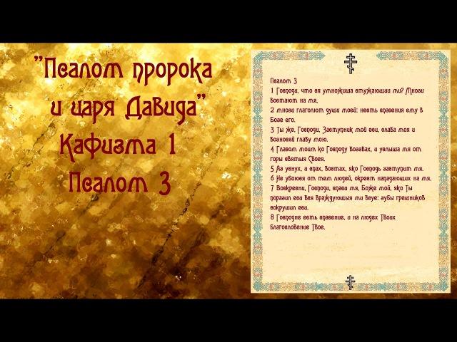На снятие порчи, на денежное благополучие. Псалом пророка и царя Давида Кафизма 1 Псалом 3