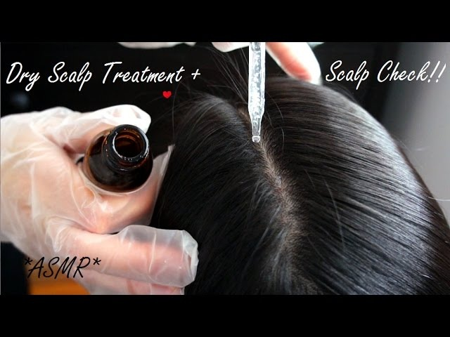 ASMR SCALP TREATMENT SCALP CHECK IN SECTIONS BRUSHING OUT KNOTS (REAL PERSON VERY RELAXING)!