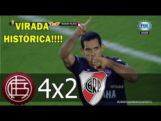 Lánus 4 x 2 River Plate - VIRADA HISTÓRICA - Melhores Momentos e Gols - 31-10-2017