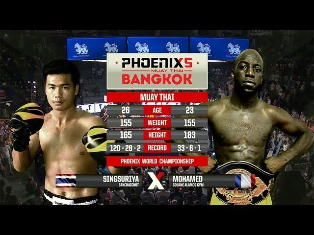 Singsuriya Sankchaichot Vs Mohamed Souane Alamos Gym - Full Fight (Muay Thai) - Phoenix 5 Bangkok
