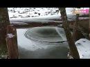 Необычный Круг Изо Льда На Реке в Горах Адирондак