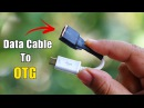 Turn any Data Cable into OTG Cable How to make OTG cable