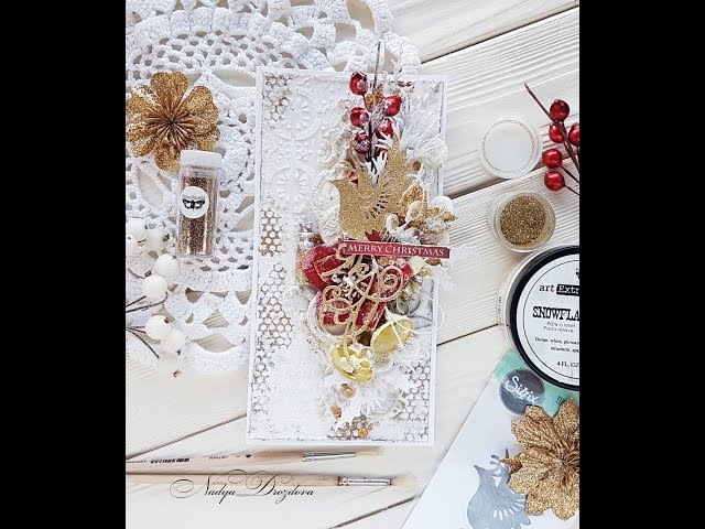 Step-by-step Tutorial Christmas card with Sizzix dies