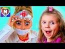 ИГРАЕМ В ДОКТОРА НАСТЯ ЕДЕТ В БОЛЬНИЦУ Настя и кукла Беби Бон в больнице Настя как мама Видео для д