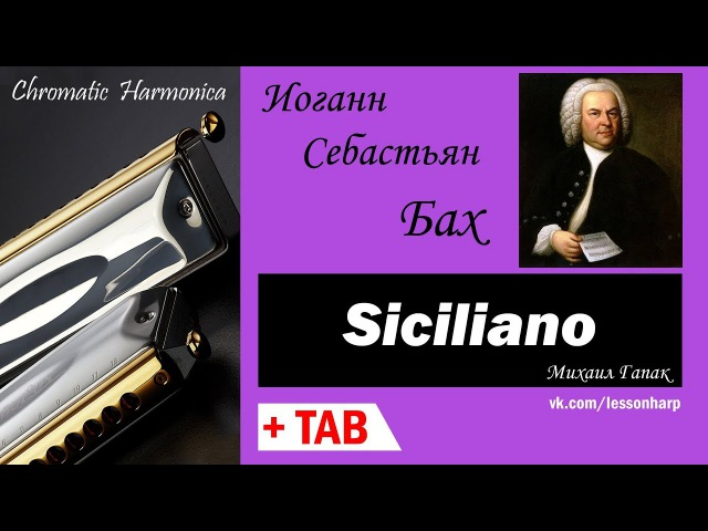 Siciliano - Harmonica TAB - Михаил Гапак - Hohner Ace