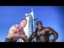 Jay Cutler Kai Greene Posing Together At Dubai Beach