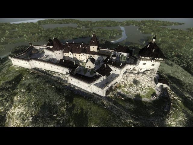 Хустский замок 3D реконструкция