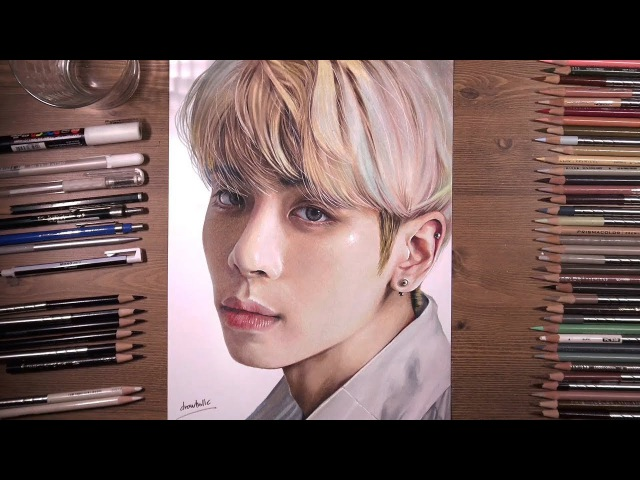 Shinee : Jong Hyun 종현 - Tribute Drawing   drawholic