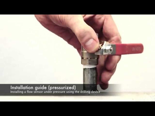 Использование сверлильного патрона при монтаже расходомера