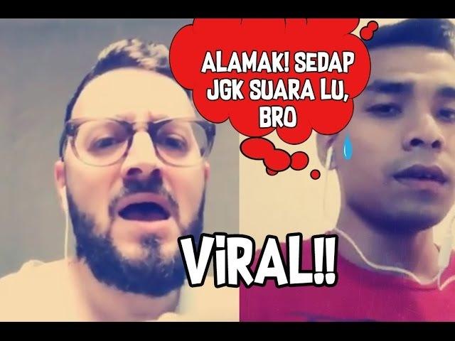 Mat Saleh Suara Sedap Duet Dengan Anak Saleem, Syafiq Farhain