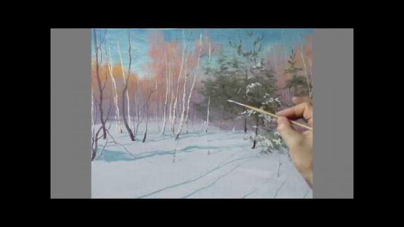 Юрий Клапоух. Урок для самых маленьких художников. Зима.