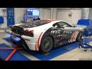 Ferrari 430 Scuderia Spitting Blue Flames on the Dyno!