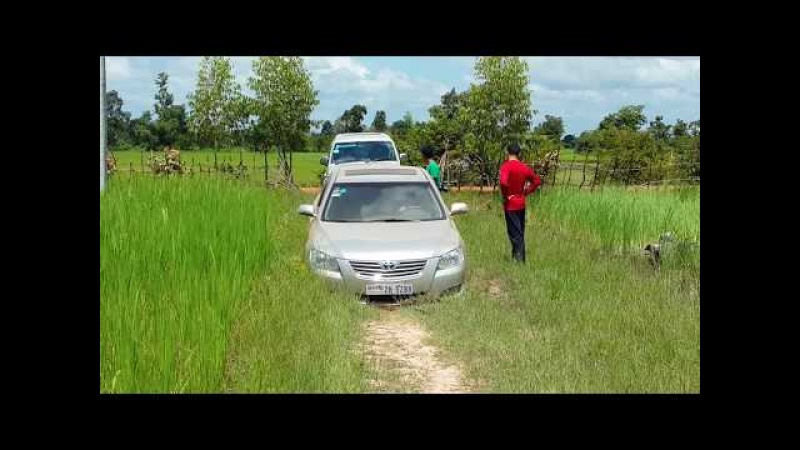 Amazing view on finding place for cooking pulling car from mud