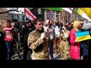 Митинг белорусских нациков в Киеве чуть не разогнал колбасный фургон