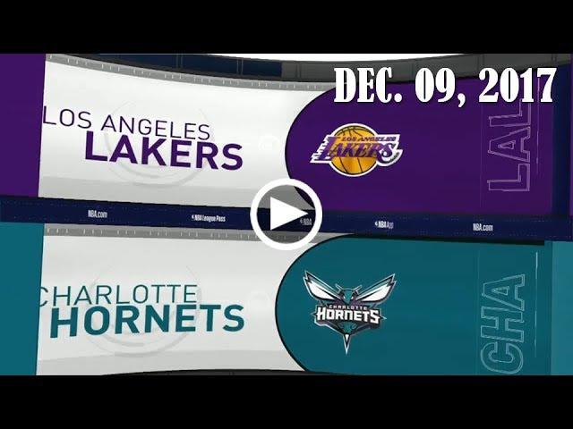 LА Lаkеrs - Charlotte Ноrnеts   10.12.17   201718 NBA Season