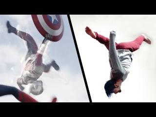 Doing Stunts From Captain America: Civil War (Marvel's Avengers)