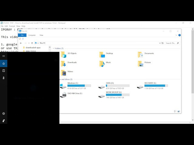 IPGRAY PHP How to download and install PHP in windows 10