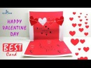 How to Make a Cute Homemade Pop Up Valentine's Card VERY EASY to Make Lina's Craft Club
