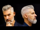 Modern Gentleman's haircut and beard Men's haircut for 2018
