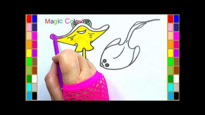 Drawing a Stingray Easy Under the Sea Draw and Coloring Pages