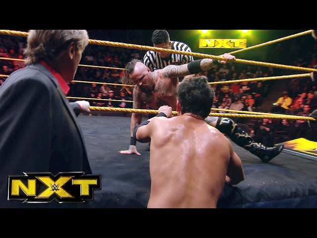 William Regal checks on Aleister Black following the NXT Tag Title Match: Exclusive,. Jan. 10, 2018