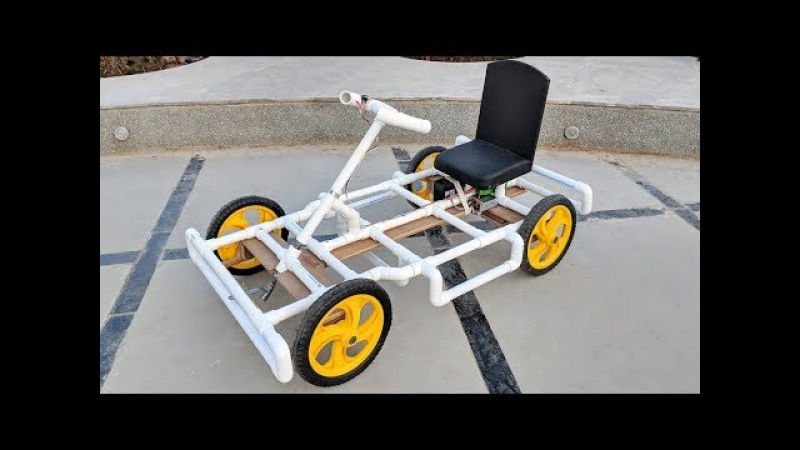 How to Make a Go kart / Electric car using PVC pipe at Home