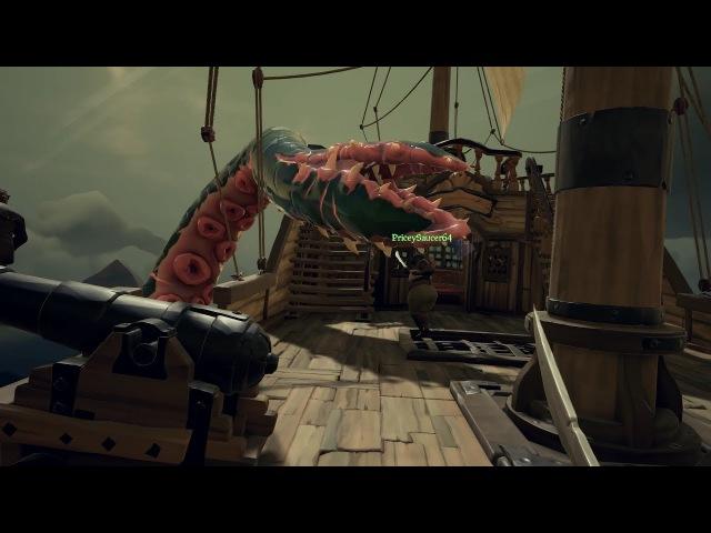 Sea of Thieves ➤ Это Кракен! Весь боезопас в щупальце кракена, а ему пофиг на нас.