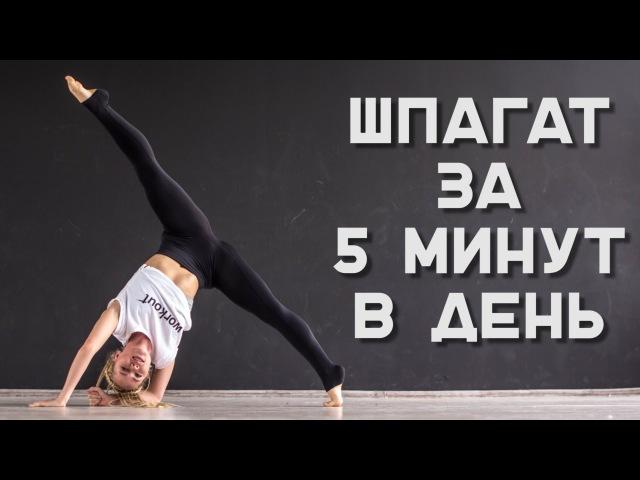 Как сесть на шпагат за 5 минут Комплекс упражнений [Workout   Будь в форме]
