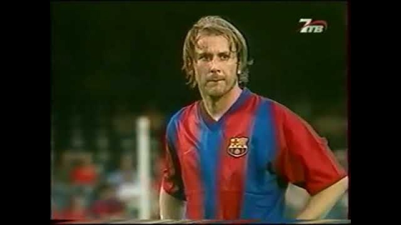 Season 2002/2003. FC Barcelona - Malaga CF - 2:1 (highlights)