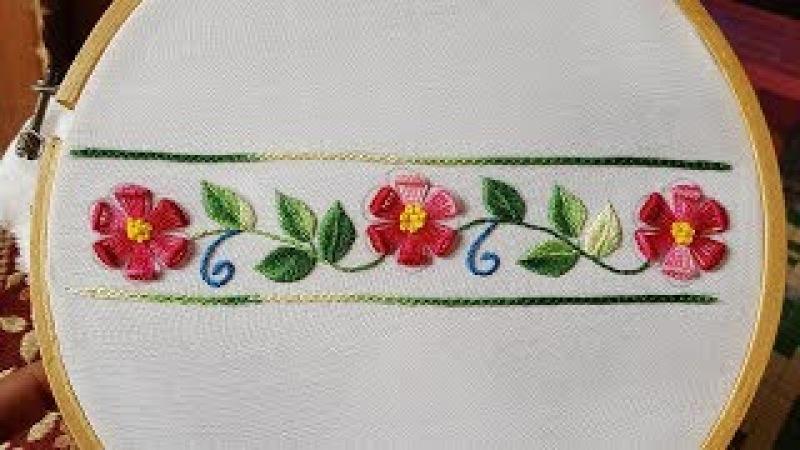 Hand embroideryborder(Daman) embroidery for kurtiskameezblouse