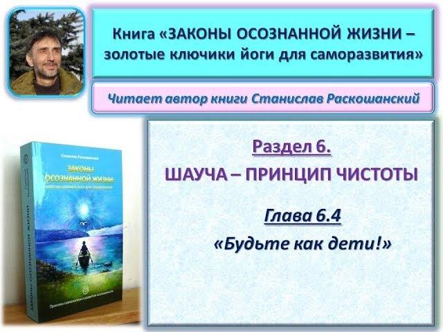 Книга ЗАКОНЫ ОСОЗНАННОЙ ЖИЗНИ. Глава 6.4. Читает автор книги - Станислав Раскошан...