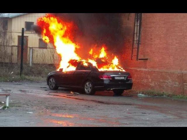 Взорвался автомобиль прокурора в Днепре