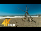 4K UHD Ocean View &amp Waves Sound - 2 Hours Pacific Ocean Sounds