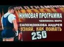 ЖИМОВАЯ программа чемпиона мира - САПОЖОНКОВА АНДРЕЯ