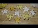 Вязание цветка крючком - вязание для начинающих - how to crochet flower