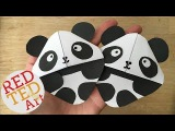 Easy Panda Bear Bookmark DIY (Great for Kung Fu Panda fans too)