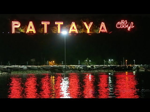 Pattaya Timelapse Day into Night at Sin City